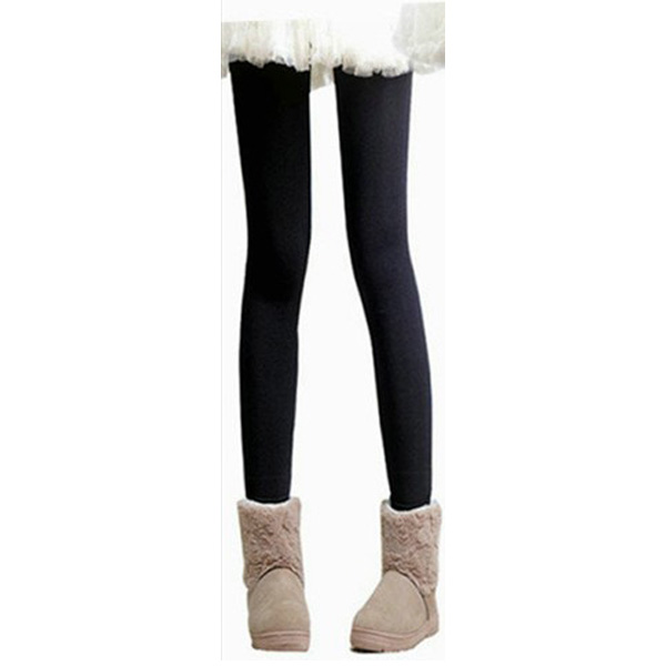 Women Slim Leggings Black Candy Color Velvet Winter Legging Newly High Quality Lady Bright Double Layers Leggings