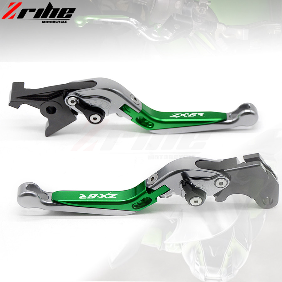 motorcycle brake clutch levers Folding Extendable Adjustable CNC Aluminum Brakes Clutch Levers For Kawasaki ZX6R/636	2007-2016 for ducati multistrada 1200 dvt 2015 motorcycle accessories cnc billet aluminum folding extendable brake clutch levers