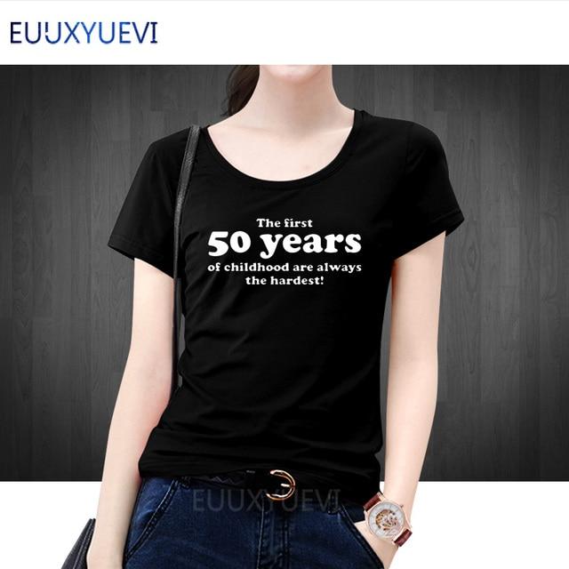 Wanita Musim Panas Top 50 Tahun Dari Masa Kecil T Shirt Slogan 50th Birthday Hadiah