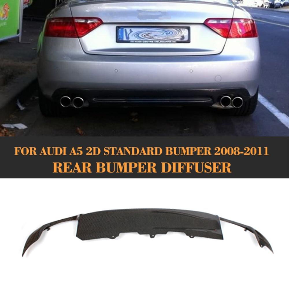 Carbon Fiber Car Rear Bumper Lip Spoiler Diffuser for Audi A5 Coupe 2 Door Standard Only 2008-2011 S5 Style Non Sline