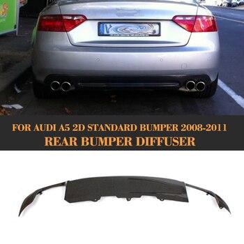 Carbon Fiber Car Rear Bumper Lip Spoiler Diffuser for Audi A5 Coupe 2 Door Standard Only 2008-2011 S5 Style Non Sline jc 20130709 1