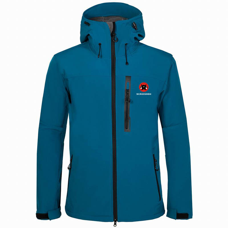 High quality Brand Outdoor Soft shell Jacket Men's Waterproof Clothing Camping Skiing Fleece Thermal Windproof Soft shell Jacket