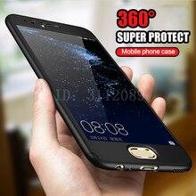 360 Degree Full Coverage Case For Huawei P9 P10 lite P10 Cover Phone Case For Huawei P10 Plus Honor 9 Cases With Glass Film