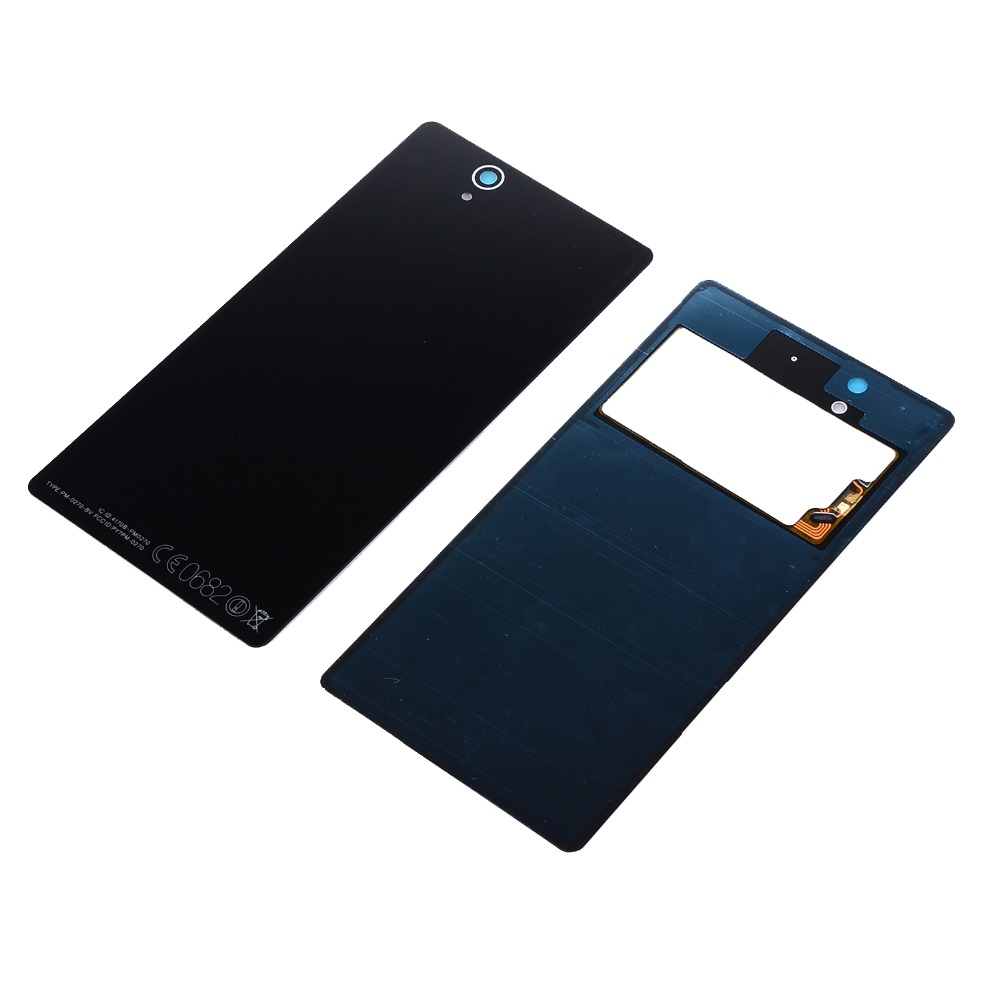 For Sony Xperia Z L36 LT36 L36H C6902 C6606 C6603 C6602 C6601 Battery Glass Door Cover Housing Rear Back Cover Case