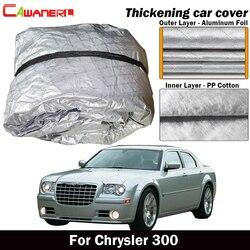 Cawanerl dla Chrysler 300 300C gruby pokrowiec na samochód bawełna wewnątrz anty-uv słońce deszcz śnieg grad plandeka wodoodporna