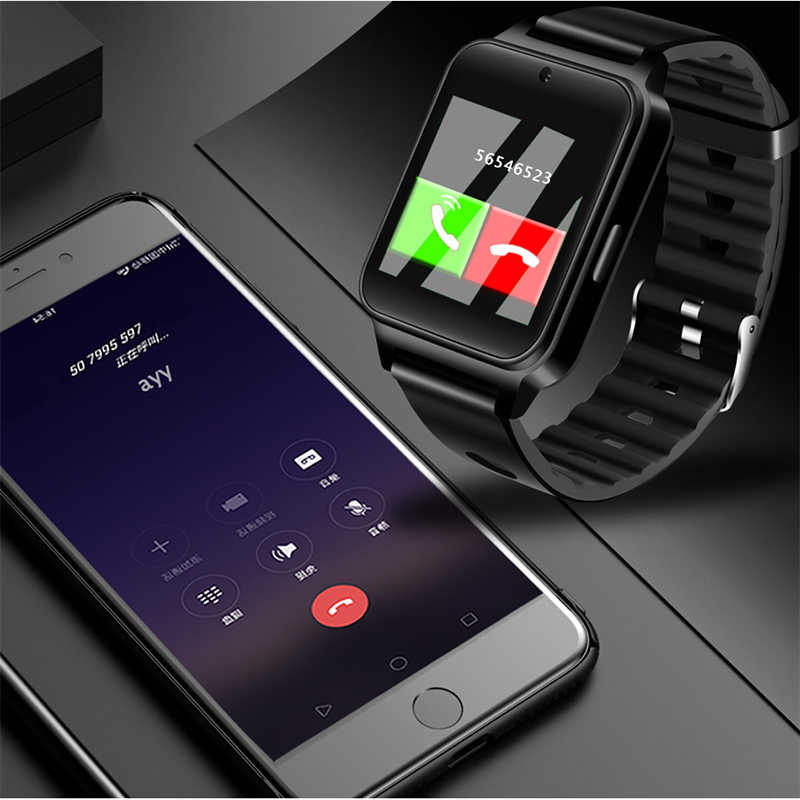 Ini Baru Smart Gelang Pria Bluetooth Video Player TF Pesan Push Kamera Sport Pedometer Digital Smartwatch Relogio Masculino