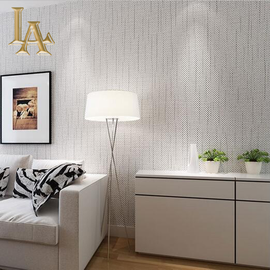 Light grey living room wallpaper living room for Bedroom wall decor