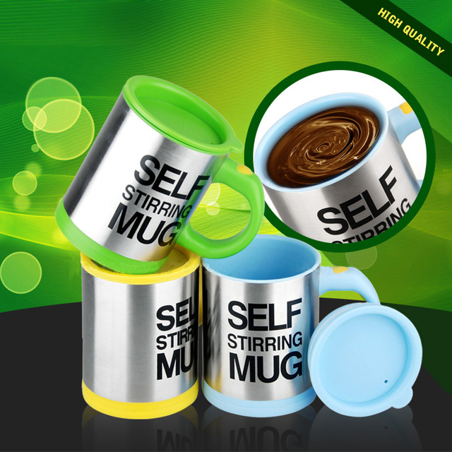 400ml Automatic Self Stirring Mug Coffee Milk Mixing Mug Stainless Steel Thermal Cup Electric Lazy Double Insulated Smart Cup