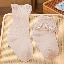 6 пар/упак. от 0 до 3 лет детские кружевные носки принцесса малыш новорожденный младенец хлопковые носки детские яркие цвета носки Новые