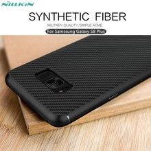 Для Samsung Galaxy S8 Плюс случае Nillkin синтетического волокна чехол для телефона для s8 Плюс Жесткий Углеродного Волокна PP Пластика Задняя Крышка Крышка 6.2′