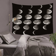 Moon Eclipse Changing Tapestry Galaxy Printed 3D Art Carpet Landscape Tapestry Home Decor Wall Hanging 3 Sizes DH0030 цена 2017
