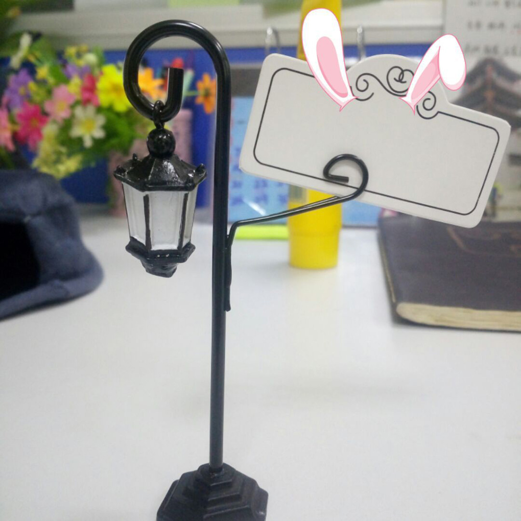 Office & School Supplies Fangnymph New 2019 Street Lamp Card Holder Table Number Photo Memo Clip Wedding Table Decor Office Binding Supplies