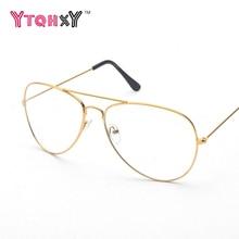 2017 Classic Sunglasses women Optics Eyeglasses Alloy Metal Frame Transparent Clear Lens Women Men Eye glasses Optical Y34S