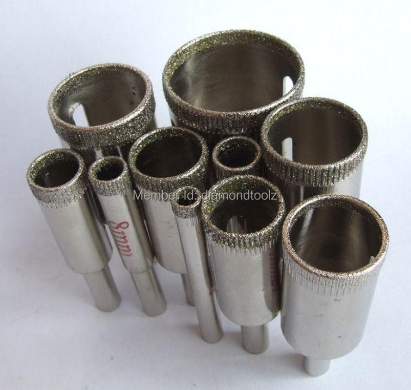 Talentool 6-32mm 10 vnt. Deimantinio įrankio grąžto stiklo skylės pjūklo rinkinys dremel įrankis plytelių marmuro akmuo