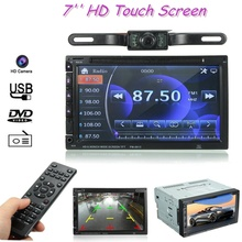 Автомобиль двойной din 7 дюймов Bluetooth аудио автомобильное радио аудио стерео MP4 плеер Поддержка USB для SD/DVD AUX HD камера с сенсорным экраном