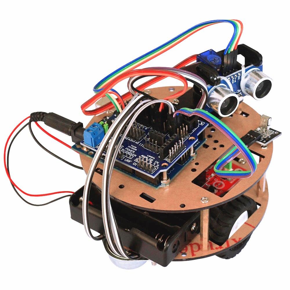 Smart car learning kit intelligent turtle robot for arduino