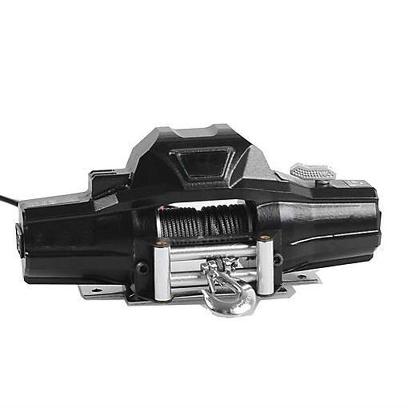 цена на Double Motor Winch for 1/10 1/8 Crawler Car Traxxas TRX4 SCX10 D90 D110 RC4WD vs 1/8 Warn Zeon 10 Winch