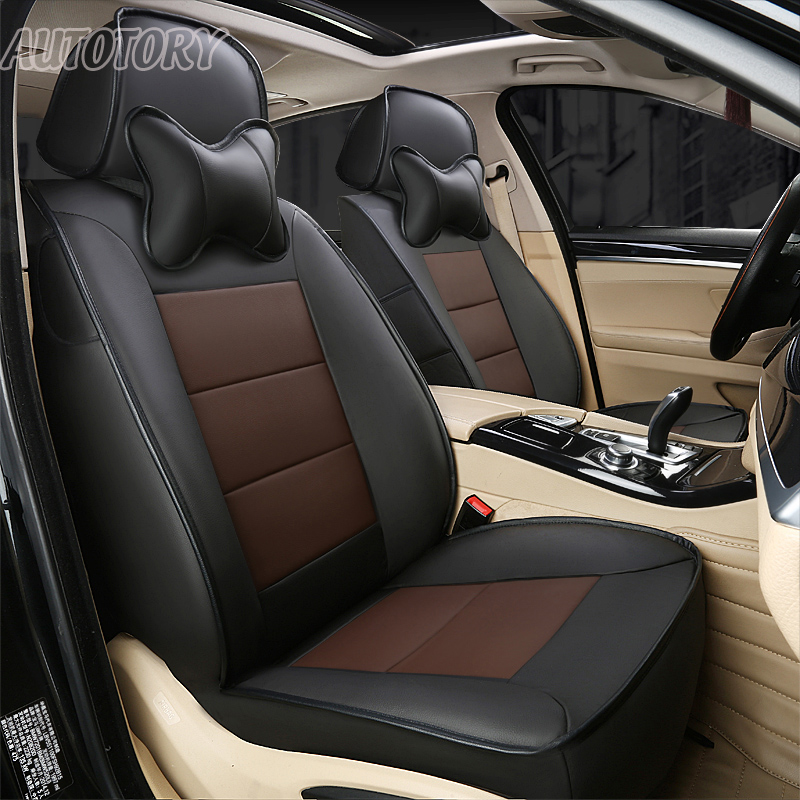 Autotory Cowhide Exact Fit Cover Seat for BMW 120i 125i Seat Covers Set Leather Automobiles Seats Cushion Protectors Accessories