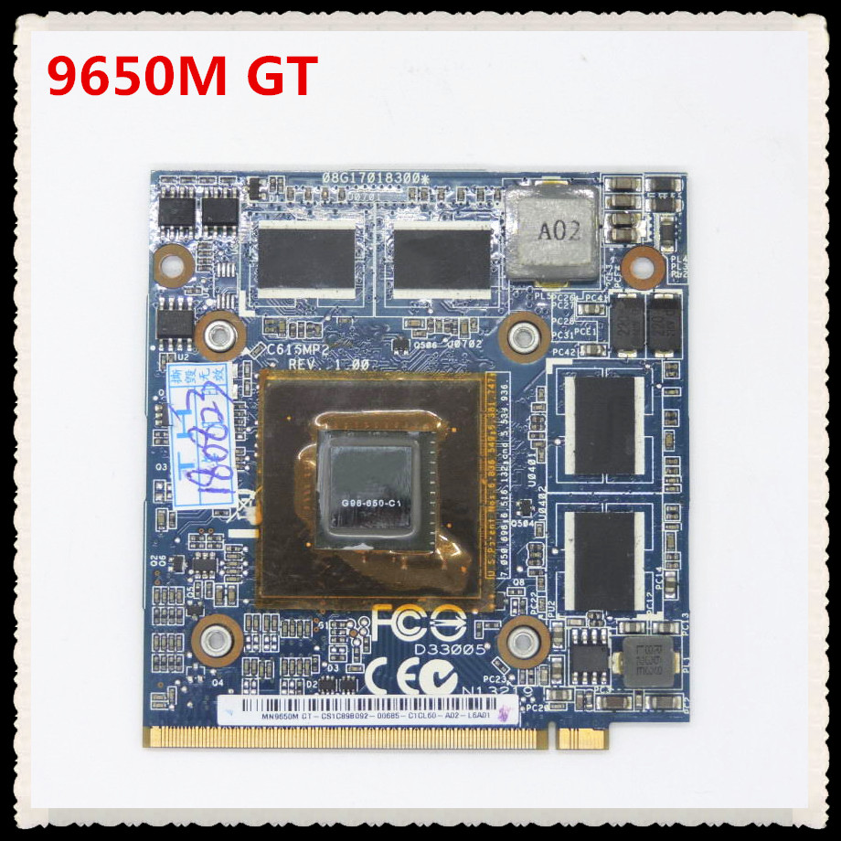 9650M GT G96 650 C1 08G17018300 C616MMP2 REV 1.00 DDR2 VGA video card for Dell Alienware M5500 M5700 for ASUS C90S Series Laptop est for a c e r aspire 5920g 5920 5520g 5520 mxm ii ddr2 1gb graphics vga video card replace n v i d i a geforce 9650m gt