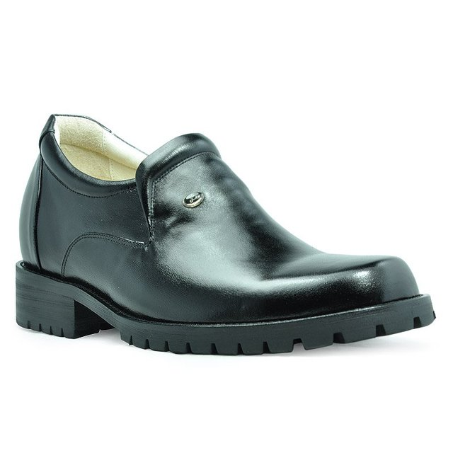 9802 Genuine Leather Men's Heel Comfortable Elevator Shoes- 3.54inches about 9cm