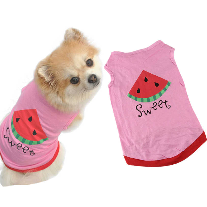 c480f9f2b Pet Clothes Summer Cute Small Pet Dog Puppy Cat Clothes Watermelon Printed  Pink Vest XS-