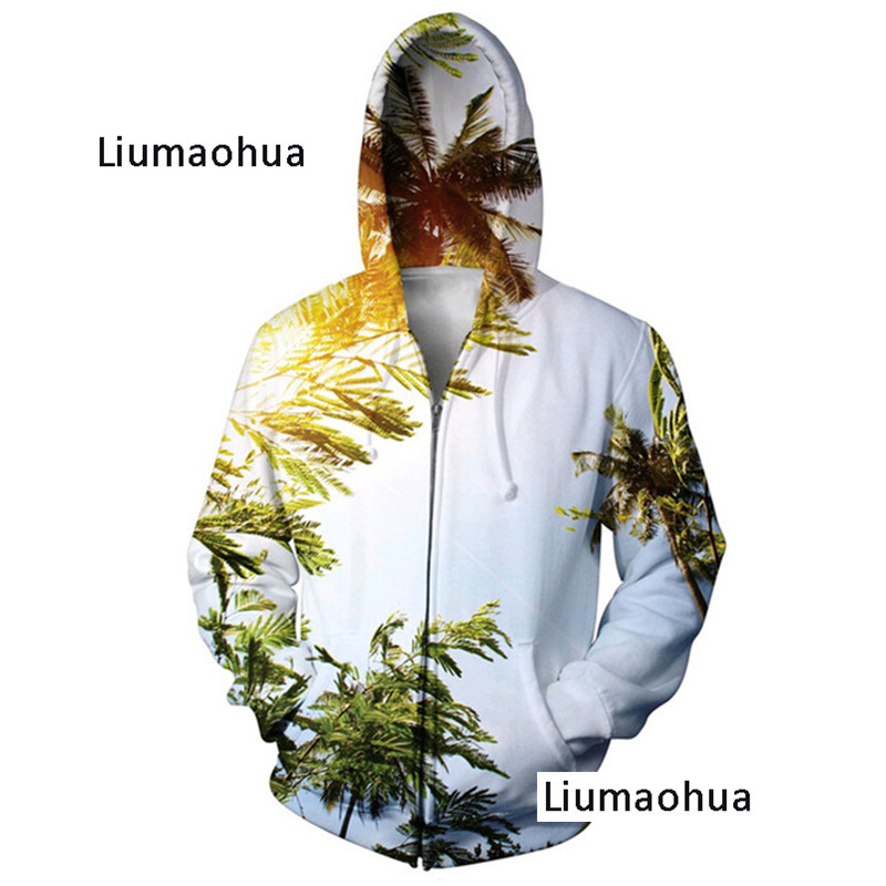 Men's Clothing Liumaohua Sweatshirt 3d Printed Zip Hoodies Women Men Autumn Style Dinosaur Jumper Jacket