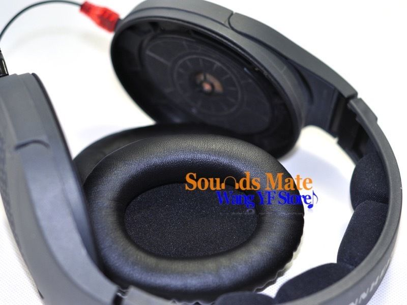 купить Memory Foam Leather Replacement Ear Pads For Sennheiser HD545 HD565 HD580 HD600 HD650 L R по цене 952.64 рублей