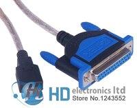 USB 2.0 DB25 Женский Порты и разъёмы Распечатать Кабель преобразователя шнур LPT win7 win8 32 и 64 бит Mac OS ze396a бесплатная доставка