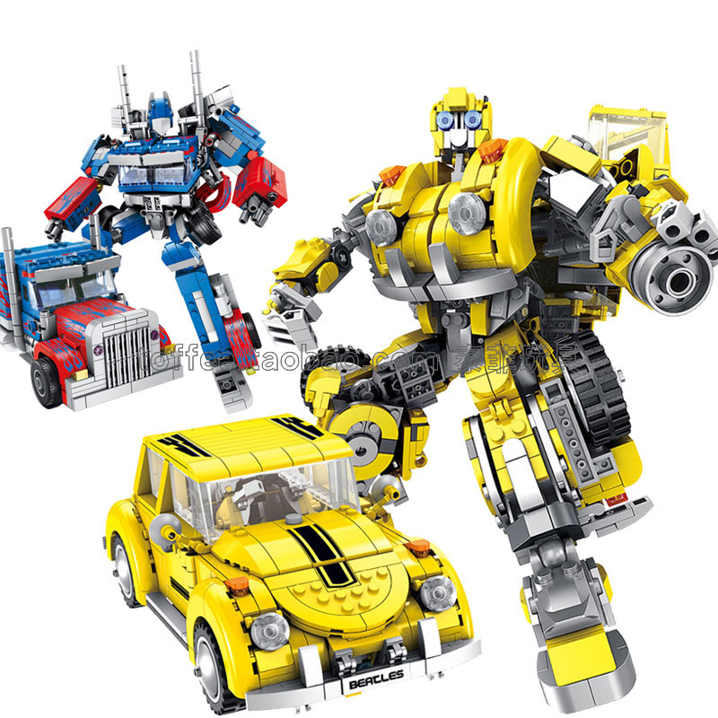 Legoed film LepinS 6 en 1 déformation hornet créateur mecha robot définit city beetle voiture MOC camion blocs de construction modèle enfants jouets