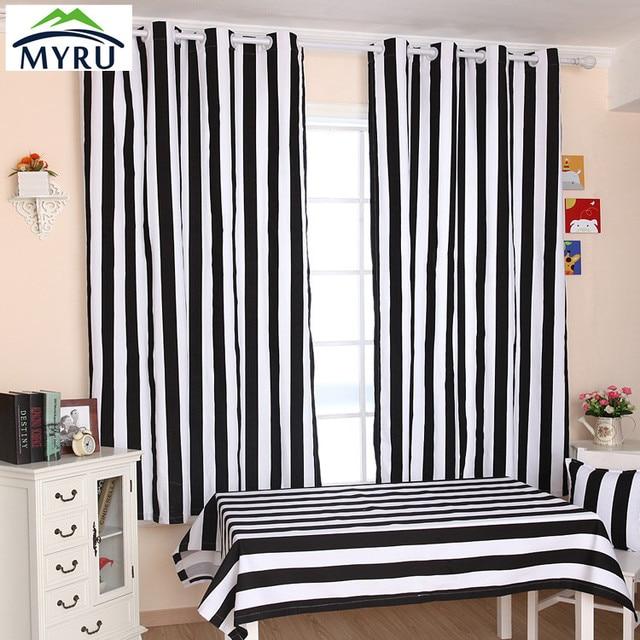 myru de nombreux taille tissu rideau noir et blanc ray rideaux chambre salon rideaux livraison. Black Bedroom Furniture Sets. Home Design Ideas