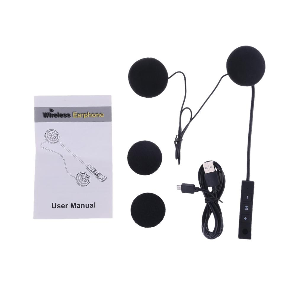 Anti-Interference Bluetooth Headphone Handsfree Music Headphone For Motorcycle Helmet Motor Riding