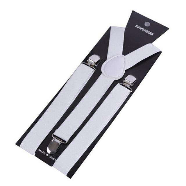 More Color For Choose New Mens Womens Unisex Clip-on Suspenders Elastic Y-Shape Adjustable Braces Colorful- 0055 2