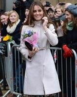 Kate Middleton Princess Wool Coat Fashion white Warm Winter Wool Blends