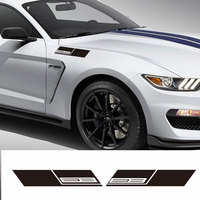 Pair for 2015 2016 2017 Ford Mustang Fender Vinyl Decal Sticker Ecoboost 2.3 Turbo Car Graphic Stickers - 4 Colors