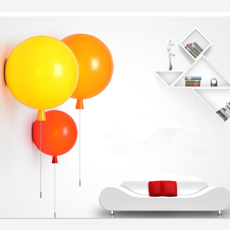 все цены на Decorative D25cm e27 led Christmas Balloon Colorful Acrylic balloon Wall Light Wall lamp kids'room bedroom bedside wall scone
