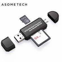 Универсальный высокоскоростной 2 в 1 USB 2,0 OTG картридер флэш-накопитель USB OTG TF/SD Card для Android телефон компьютер PC расширение Порты и разъёмы