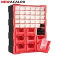 NEWACALOX 39 Schublade Kunststoff Kleine Teile Lagerplatz Organizer Hardware und Handwerk Schrank Lehrer Werkzeug Box Multi Sarg Werkzeug Fall