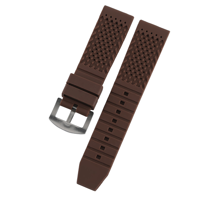 Silicone Band 18mm/20mm/22mm/24mm Small Hole Breathable Watchband Rubber Waterproof Straps for Watches Wrist Watch Women Men jansin 22mm watchband for garmin fenix 5 easy fit silicone replacement band sports silicone wristband for forerunner 935 gps