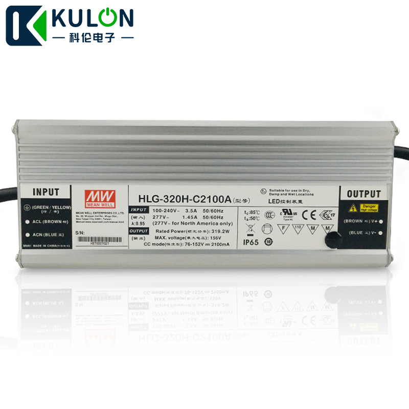 Original Meanwell LED driver HLG 320H C2100A 320W 1400mA 114 229V waterproof Mean well dimming LED