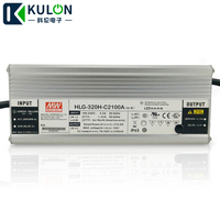 Original Meanwell LED driver HLG-320H-C2100B 320W 1400mA 114~229V waterproof Mean well dimming LED Power Supply