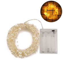 Pearl Lights String Led Beads Copper Wire Lamps Living Room Wedding Party Decoration Halloween Light