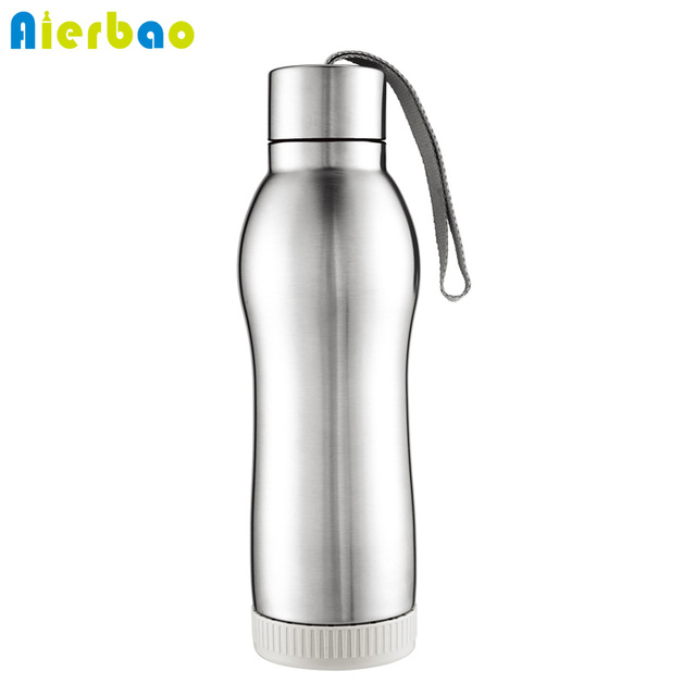 Sports Thermos Bottle Insulated Stainless Steel Water Bottle With Strap  420ml Portable Vacuum Flasks Water Bottle f308a501e