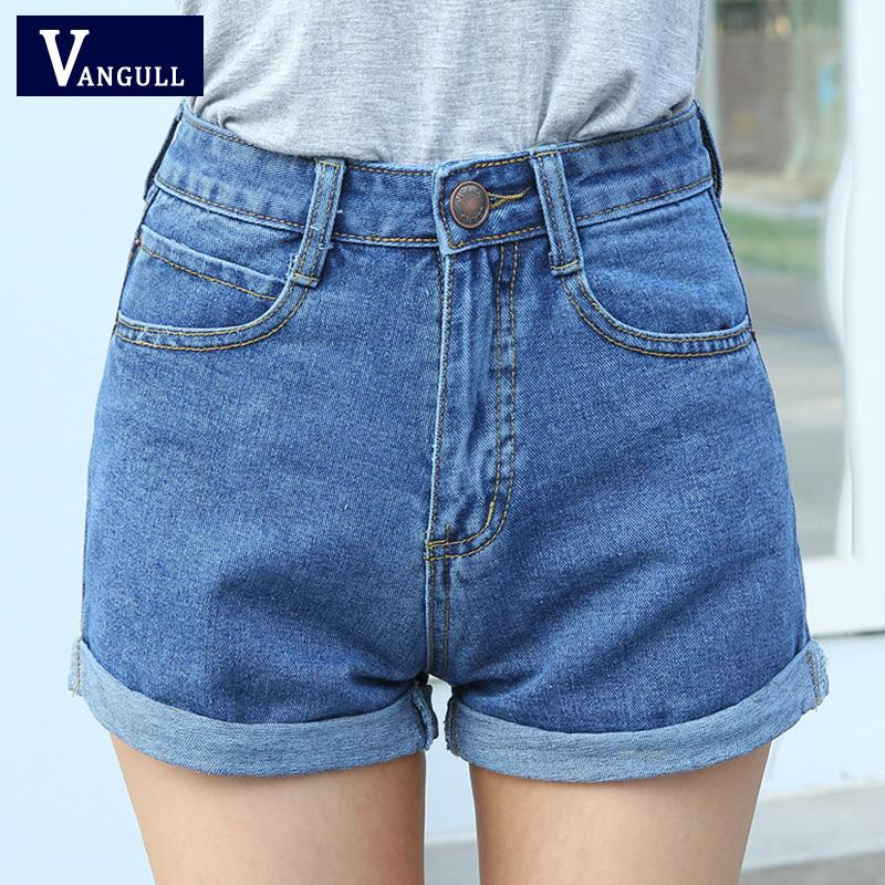 High Waist Denim Shorts Size XL Female Short Jeans for Women 2016 Summer Ladies Hot Shorts solid crimping denim shorts