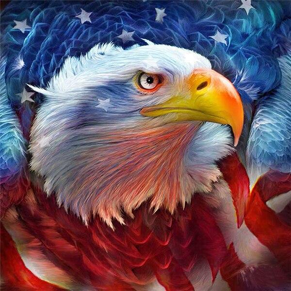 Diamante ricamo american eagle mosaico di cristallo 5d punto croce trapano piazza pittura di diamante diy sticker decorazione dipinti