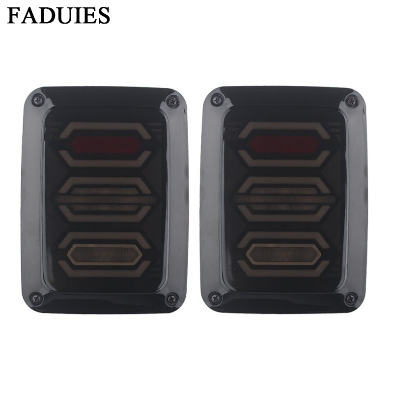FADUIES LED Tail Lights For Jeep Wrangler Taillights Reverse Light Real Back Up Turn Signal Lamp For Jeep Wrangler JK 07-2017 high quality new generation led car rear taillights tail lamps for jeep wrangler jk play and plug