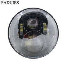"""FADUIES Black 7"""" LED Motorcycle H4 HeadLight 7 inch Led headlamp For Hornet 250 600 900 VTEC VTR250 Honda CB400 CB500 CB1300"""