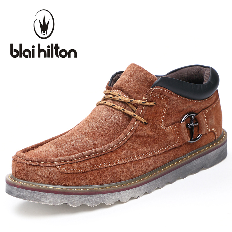 blaibilton Autumn Winter Genuine Leather Casual Men Shoes Snow Warm Velvet Vintage Classic Male Platform Thick Sole Footwear blaibilton brand winter warm velvet high top men casual shoes luxury genuine leather male footwear fashion designer mens sd3599