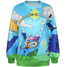 Harajuku 3D Print Adventure Time Princess Bubblegum Sweatshirts Coat Fashion Long Sleeve Men Women Hooded Hoodies Tracksuit Tops