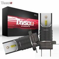 TXVSO8 5 пар H7 светодиодный фары CSP чипы 30000LM 6000 K мини bombilla H7 светодиодный фонарь лампа 55 Вт Авто ампулы 12 V светодиодные лампы