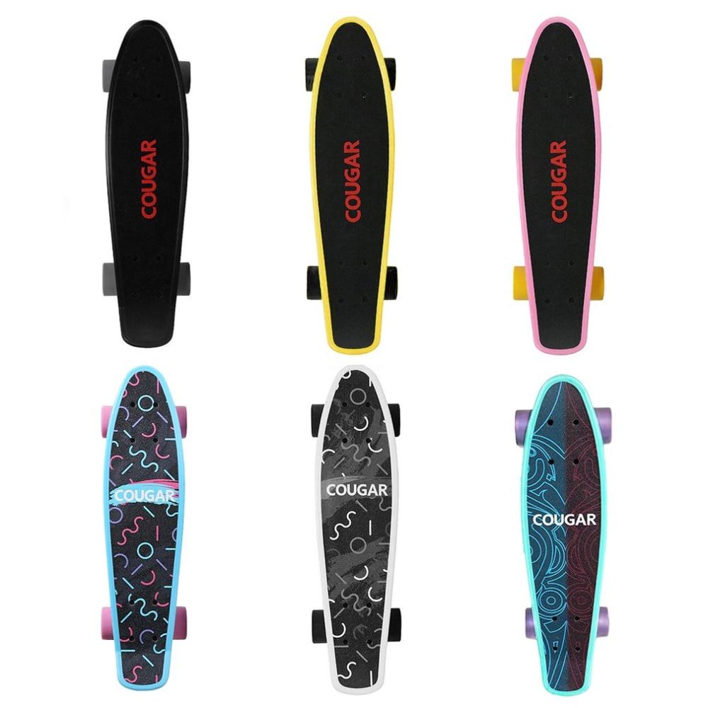 Arch Design Four wheeled Skateboard Plastic Long Board Freestyle Skateboard Skate Deck Cool Adult Teenager Skateboards New